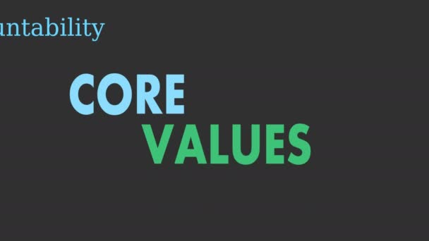 Core values word cloud, business concept - Illustration