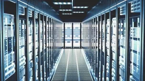 Cloud Computing Rechenzentrum Server Room Server Racks in modernen Rechenzentren