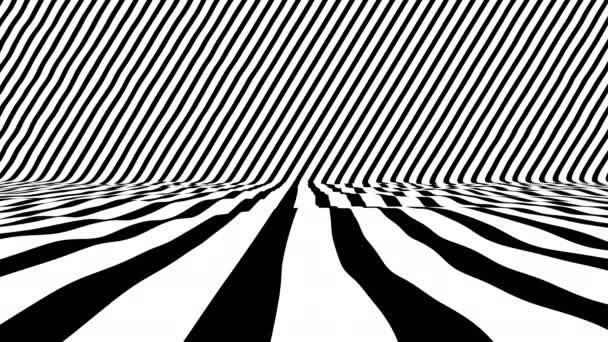 Elegantní černobílý animovaný povrch pro VJ nebo show