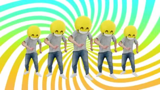 Animációs Team emberi Funny and Lucky dinamikus Dancing a komikus ritmus Beat loop