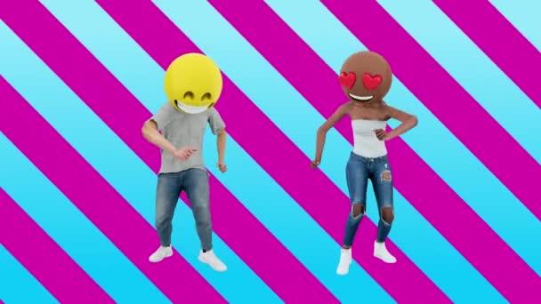 Táncoló pár lányok és fiú élvező esemény miután a hétvégi ünnepség