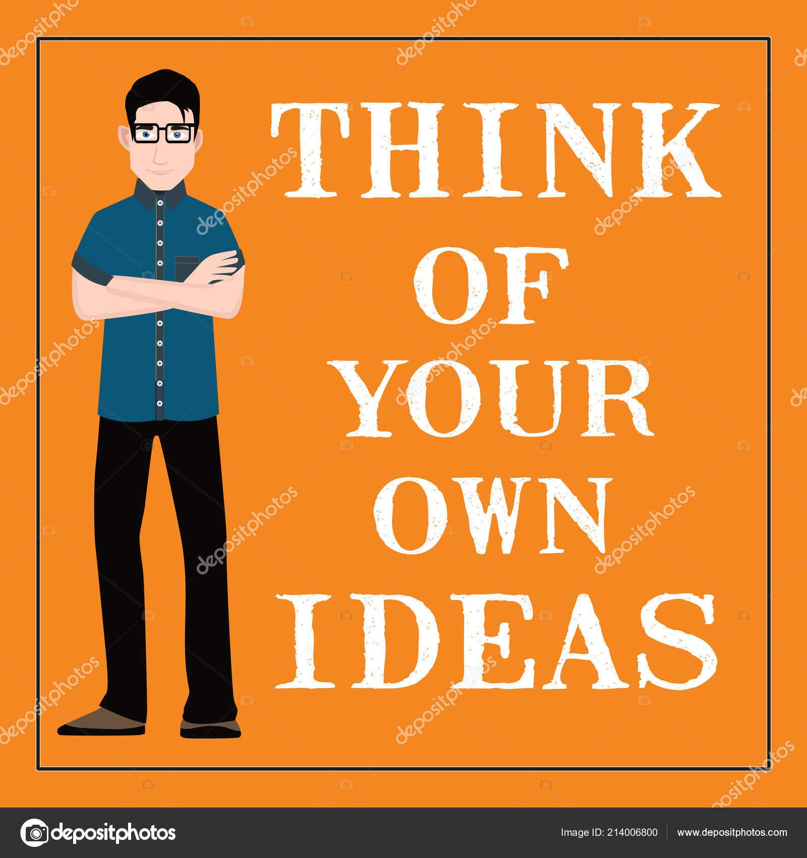 Citações Motivacionais Pense Suas Próprias Ideias Fundo