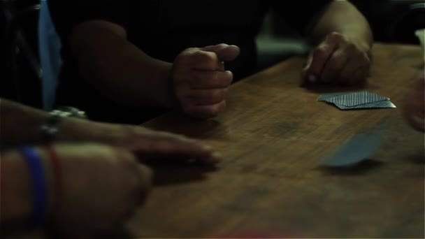 Men Playing Cards. Argentinean Truco (Card game in Argentina).