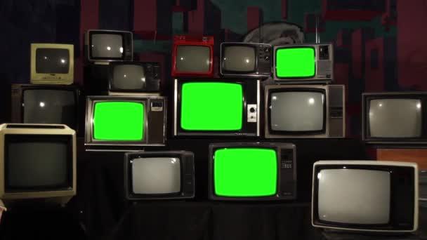 80-as években televíziók zöld képernyők. Kész arra, hogy cserélje ki a zöld képernyő felvétel vagy képet szeretne. Full Hd.
