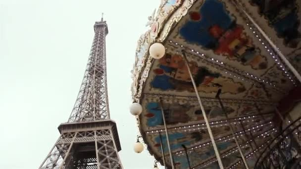 Eiffel Tower and Carousel in Paris.