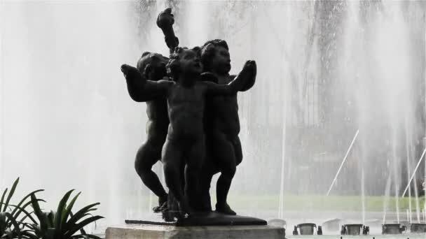 Fountain In The Plaza Del Congreso Nacional, In Buenos Aires (Argentina).