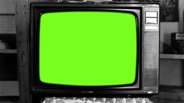 80-as évek televízió Green Screen. Fekete-fehér hang.