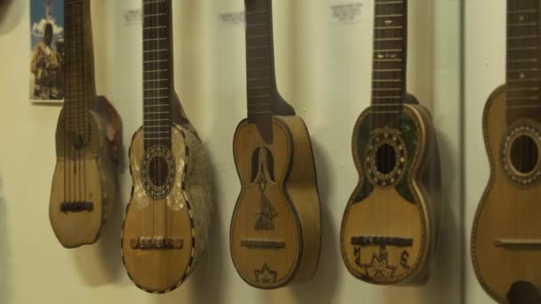 Old Charangos in a Bolivian Museum.