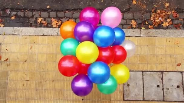 Színes hélium Balloons, gyermek üdülés.
