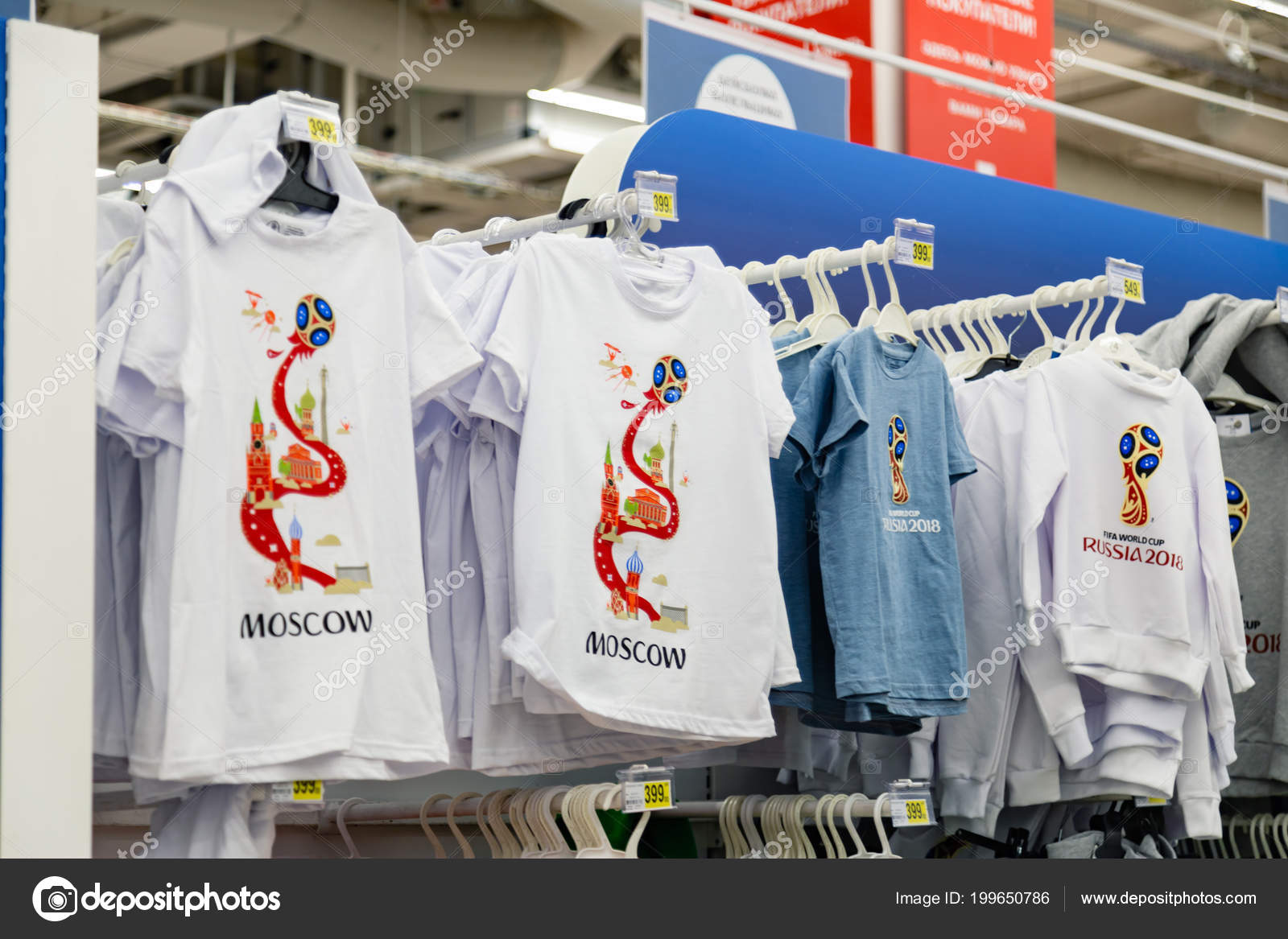 20a6b58f343 Moscow Russia June 2018 Official Licensed Products Fifa World Cup ...