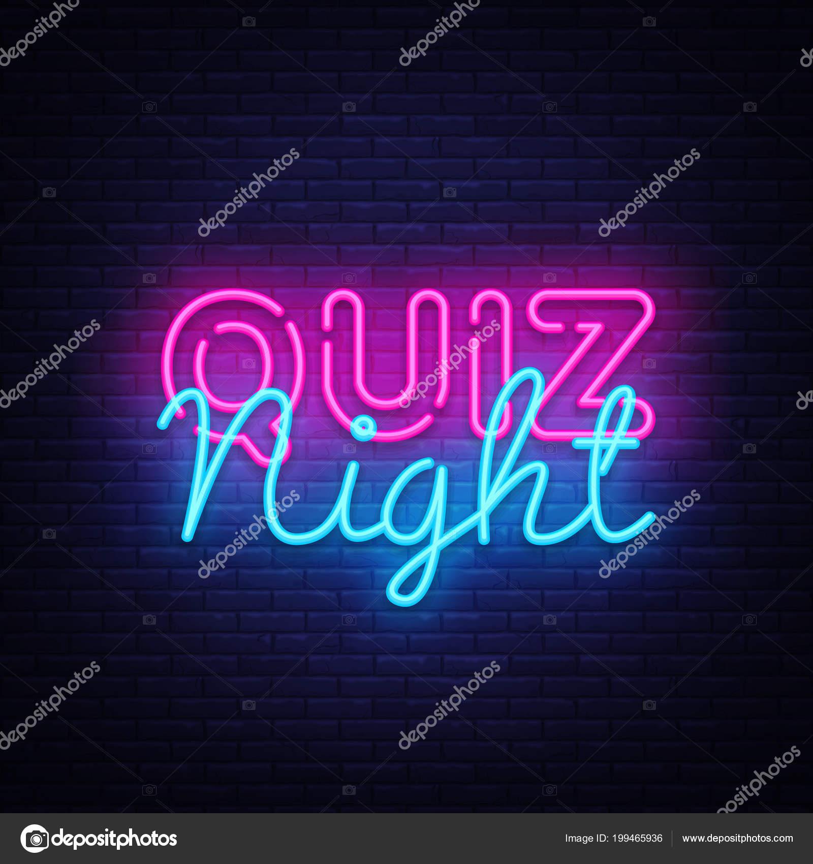 Quiz night announcement poster vector design template. Quiz night ...