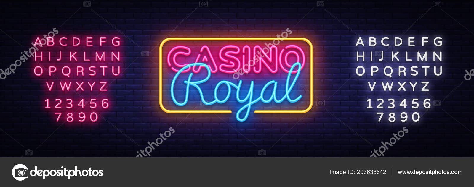 casino royal neon sign vector casino design template neon sign