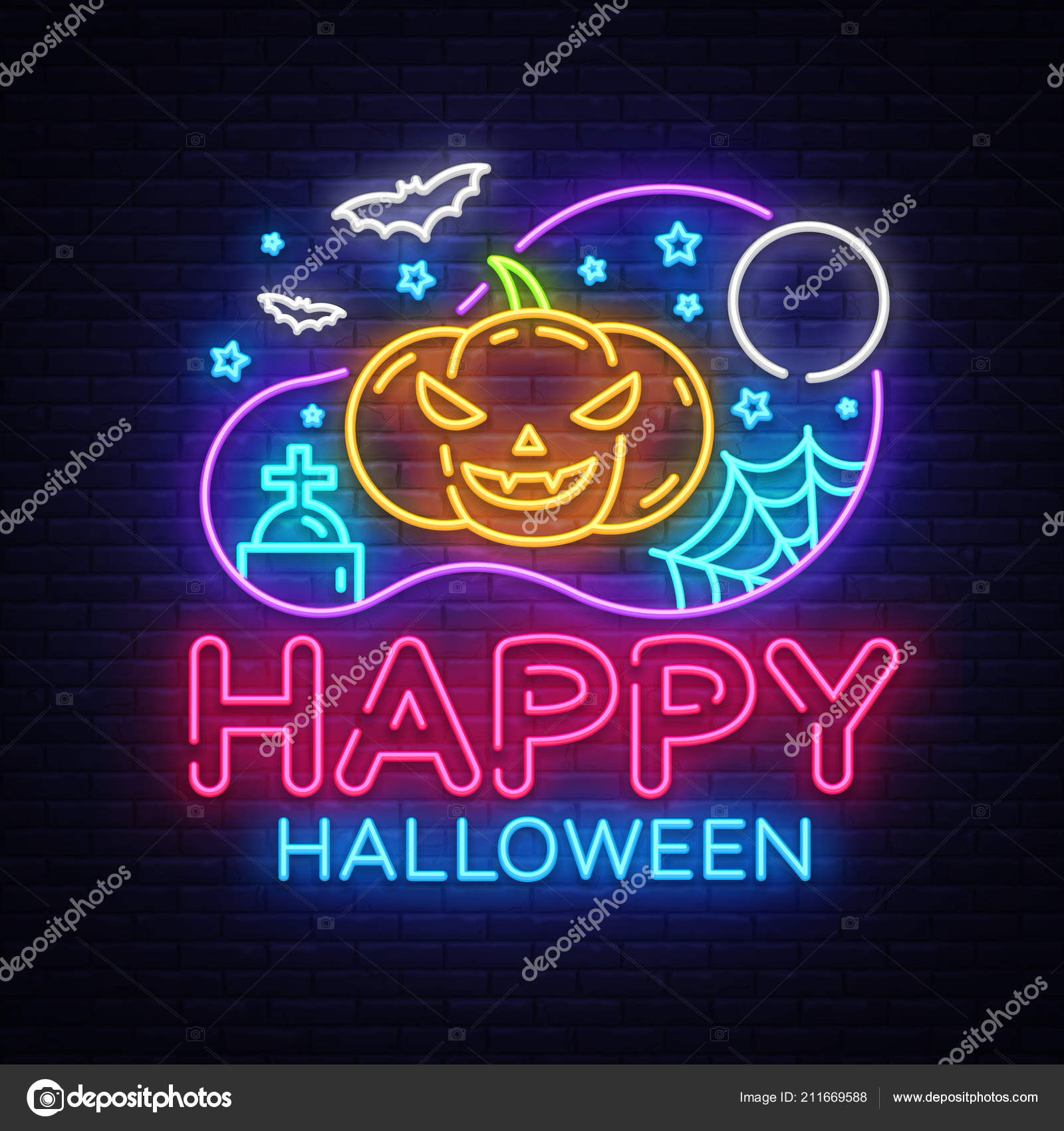 happy halloween party design template vector halloween greeting