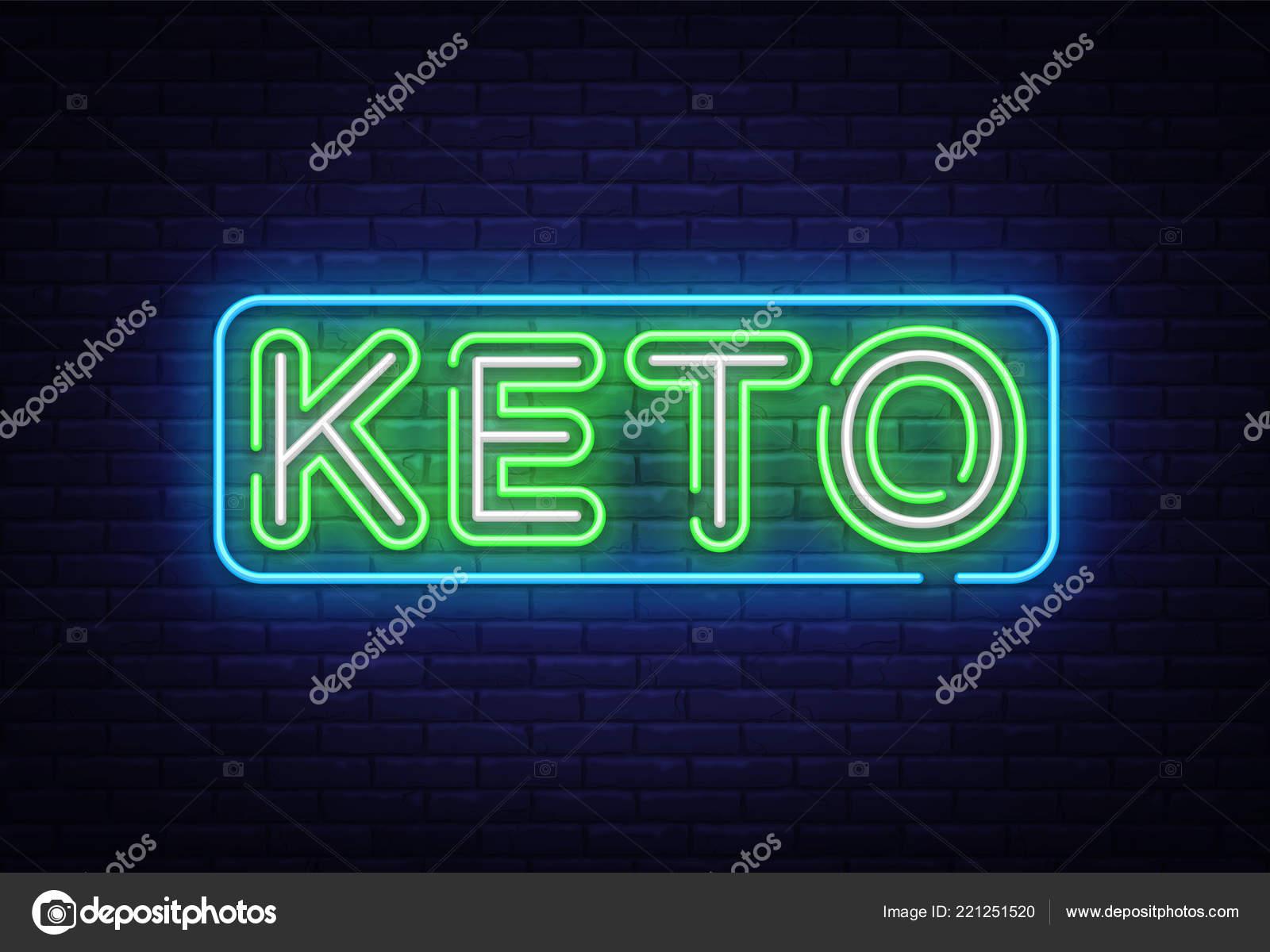 Vektor Keto Diat Leuchtreklame Ketogene Diat Design Vorlage Neon
