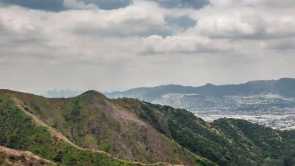 Céllal, hogy Los Angeles belvárosában és San Fernando-völgy a verdugo hegyek, Burbank, Kalifornia-idő telik videó, 4k