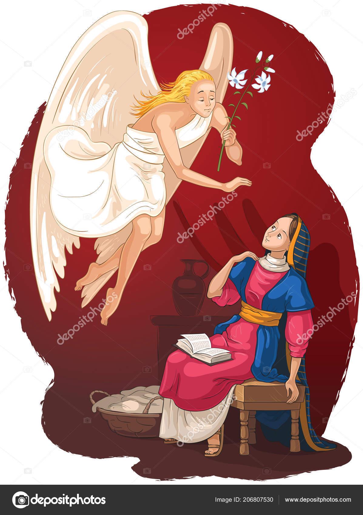 Annunciatie Angel Gabriel Aankondiging Aan Maria Van Incarnatie Van