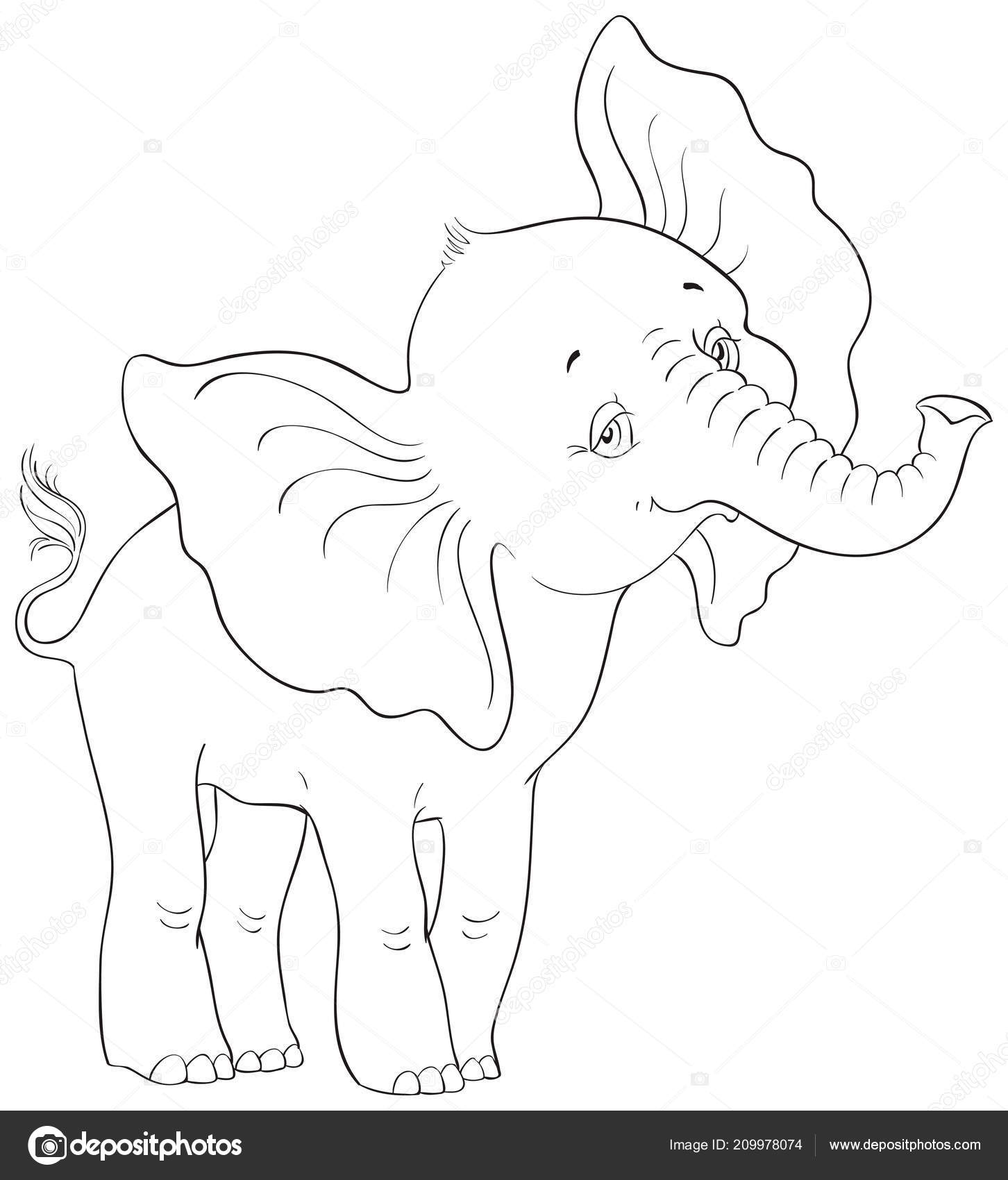 baby elefant malvorlage