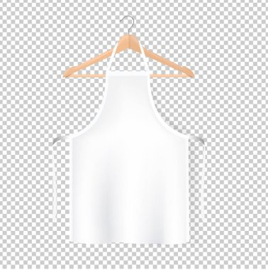 White Aprons Isolated Transparent Background