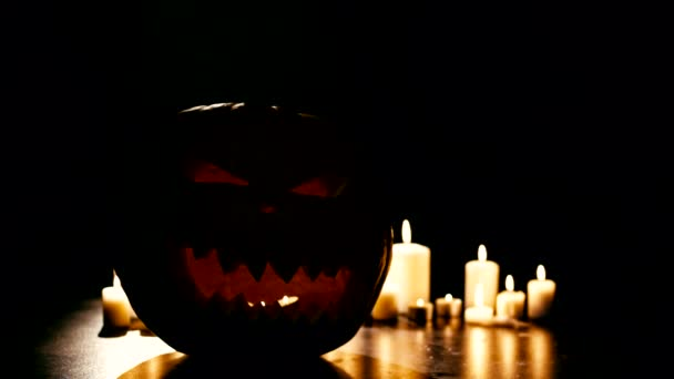 Helloween zucca con le candele