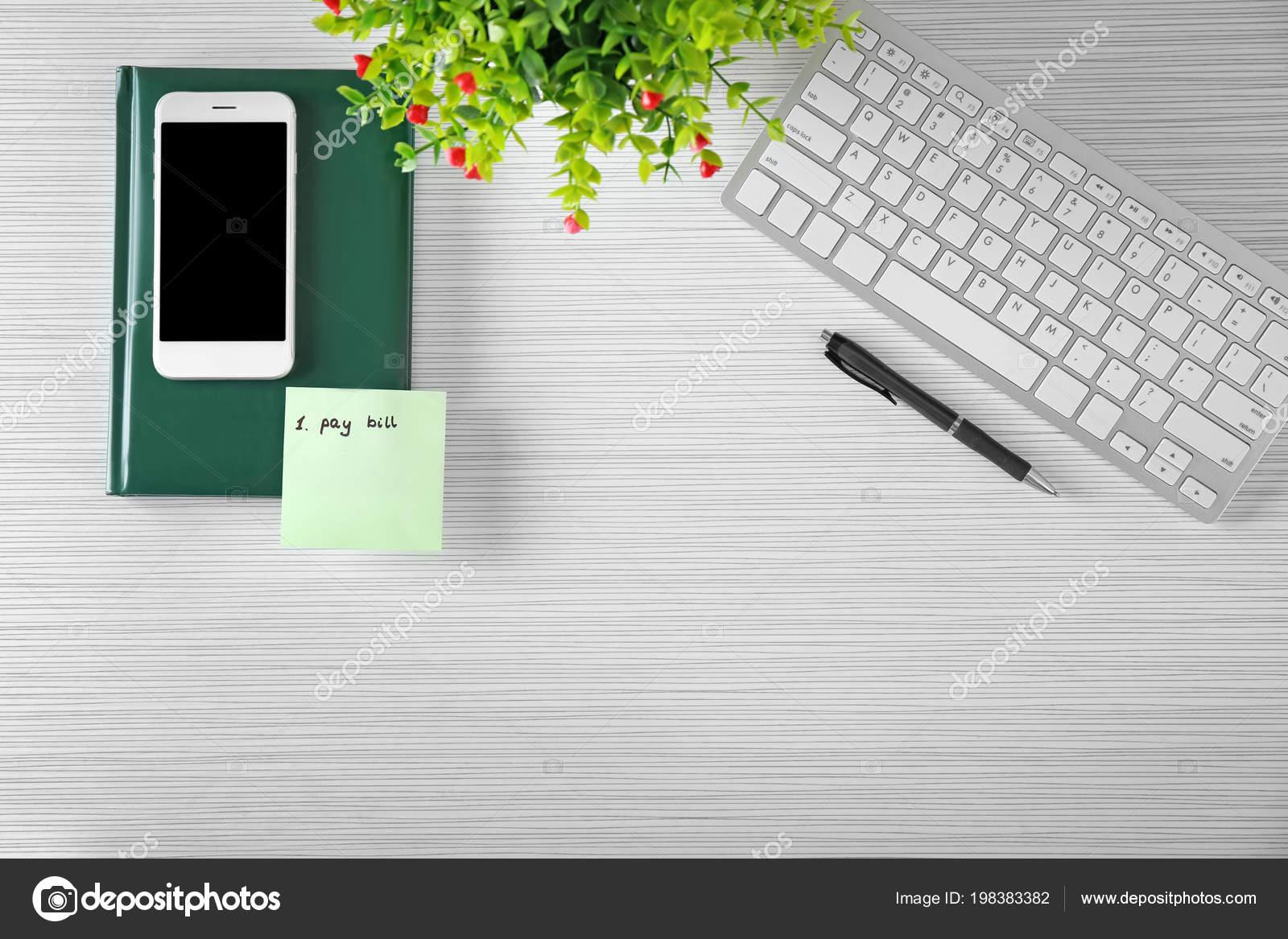 Autoadesivo Con Frase Pagare Bill Tastiera Del Computer Telefono