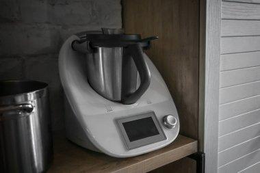 Professional equipment in restaurant kitchen