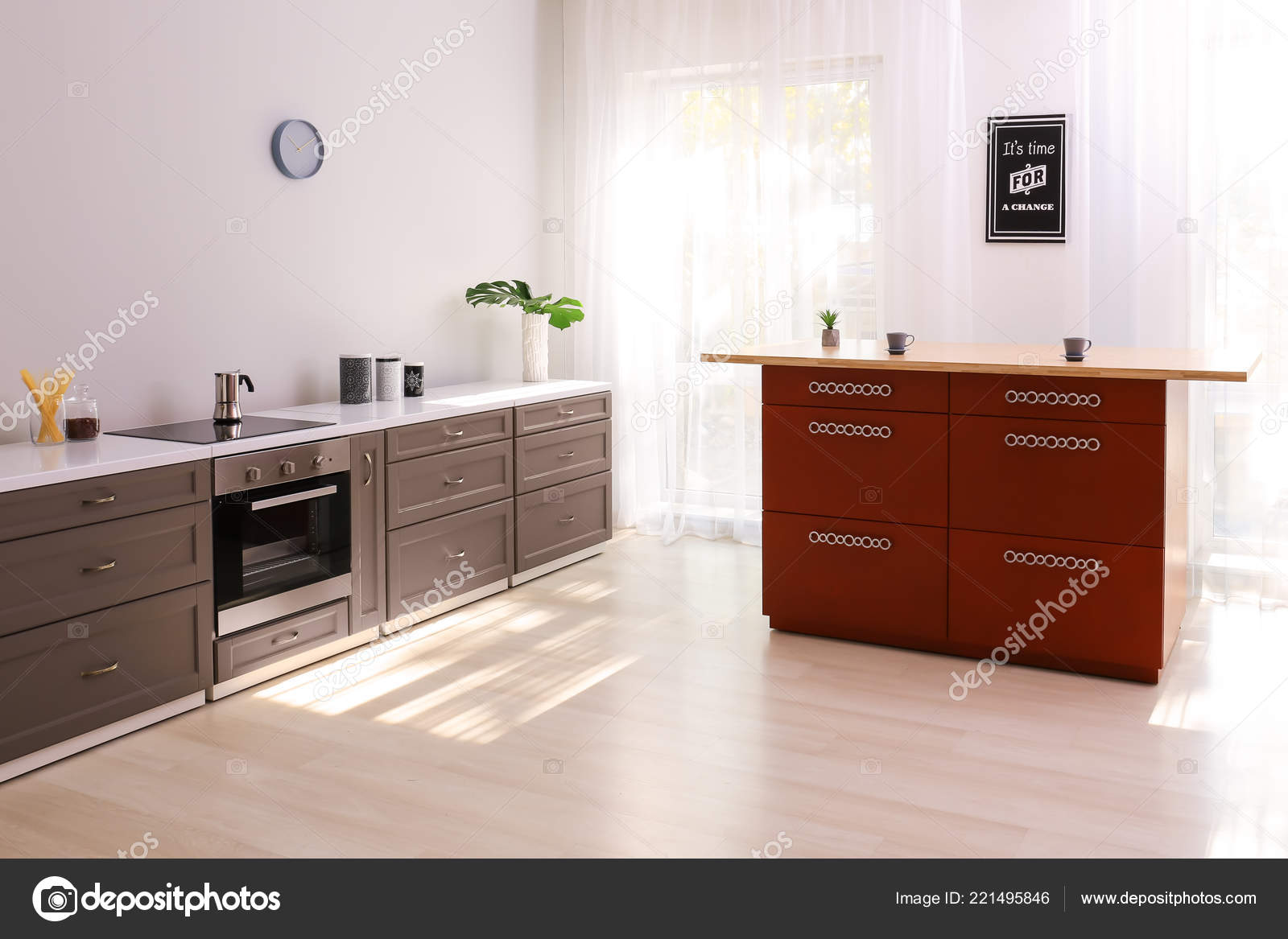 modern stylish furniture. Interior Modern Kitchen Stylish Furniture \u2014 Stock Photo Modern Stylish Furniture I