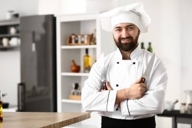 Male chef in restaurant kitchen
