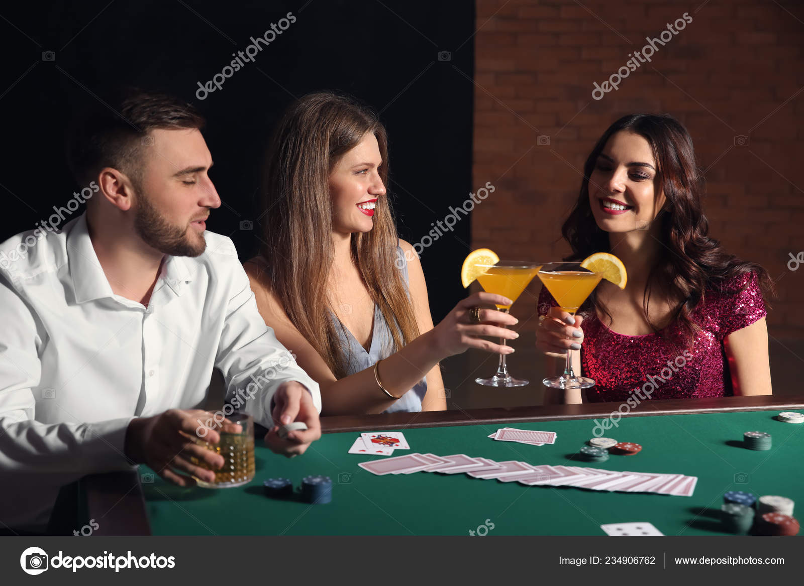 Group People Playing Poker Casino ⬇ Stock Photo, Image by © serezniy  #234906762