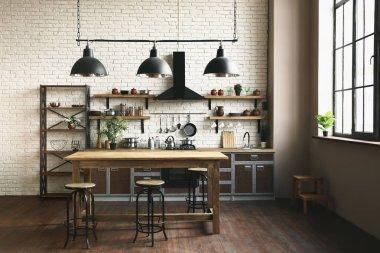 Beautiful interior of modern kitchen