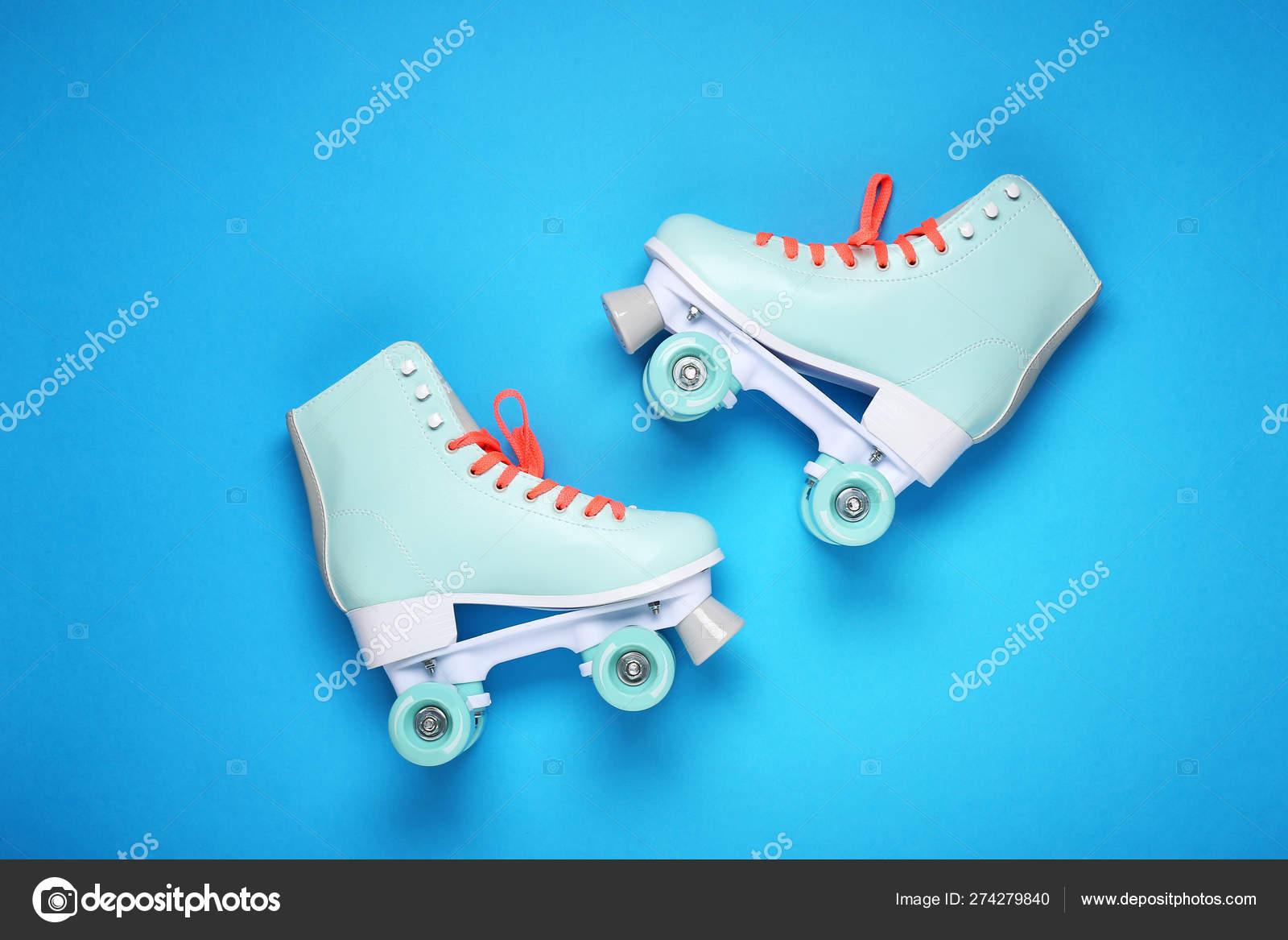 Vintage Roller Skates On Color Background Stock Photo C Serezniy 274279840
