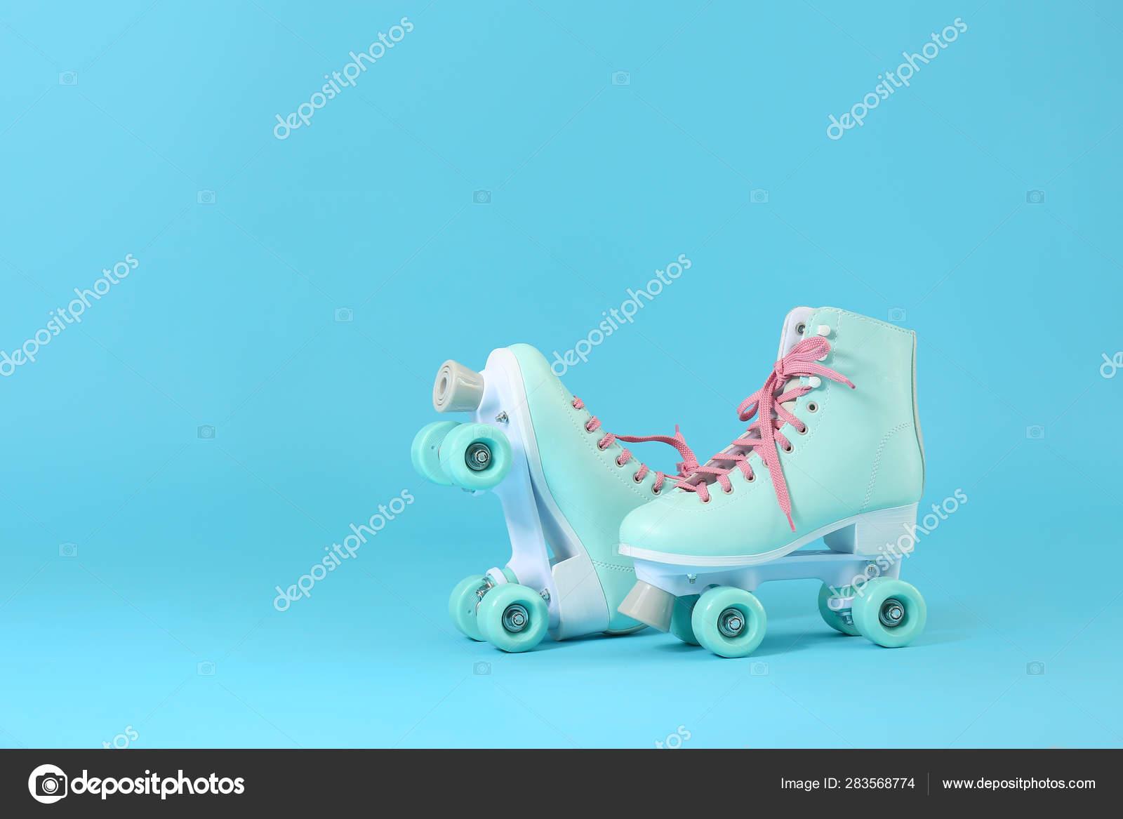 Vintage Roller Skates On Color Background Stock Photo C Serezniy 283568774