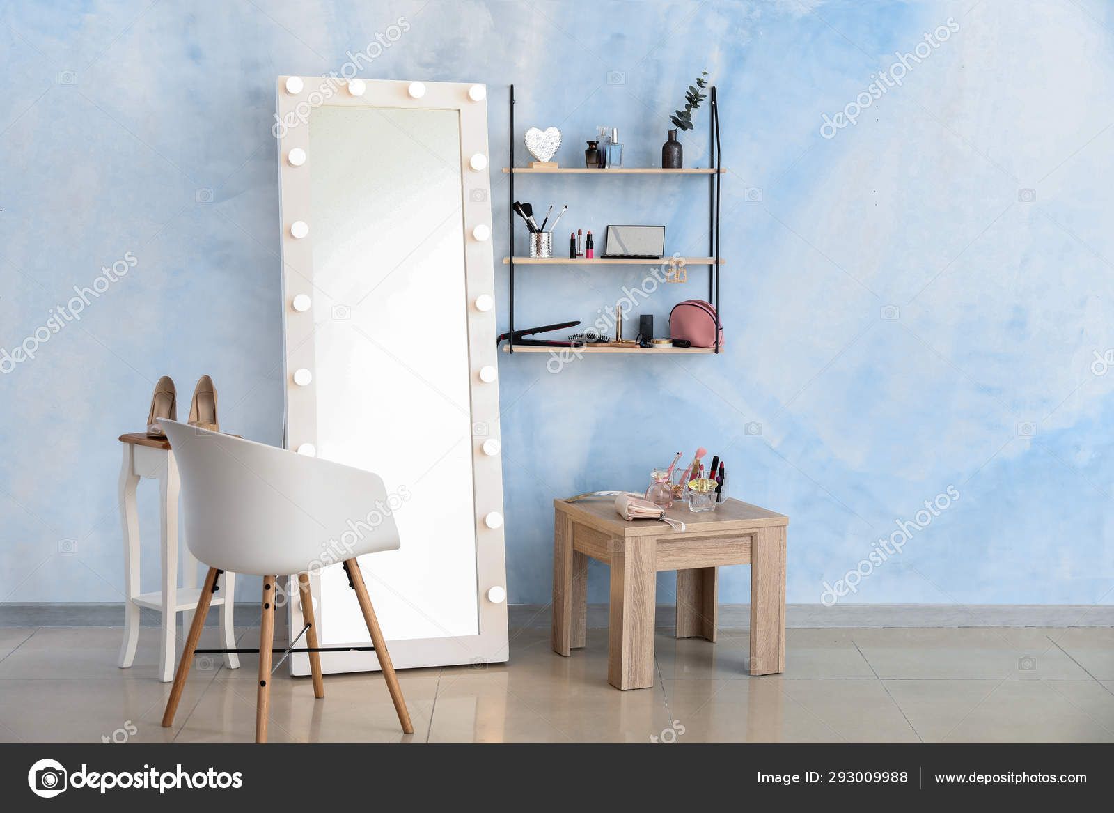 Interior of modern makeup room — Stock Photo © serezniy #16