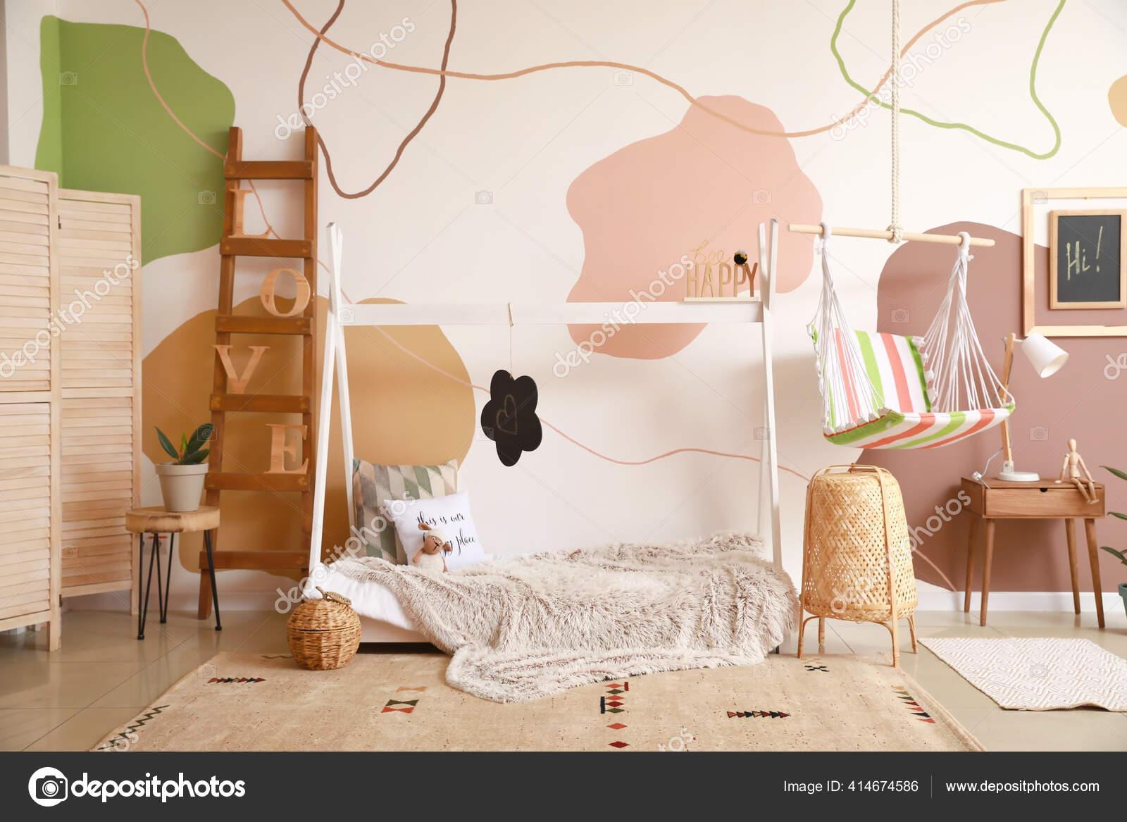 Interieur Chambre Enfants Moderne Avec Lit Confortable Photographie Serezniy C 414674586