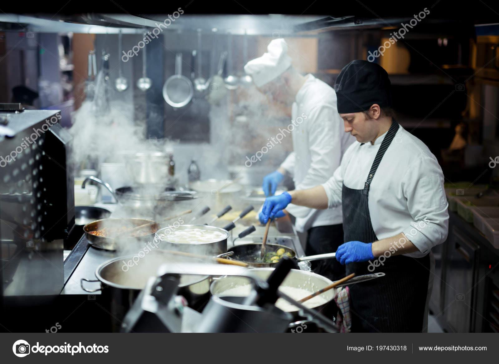 Chef Working Kitchen — Stock Photo © zorandim #197430318