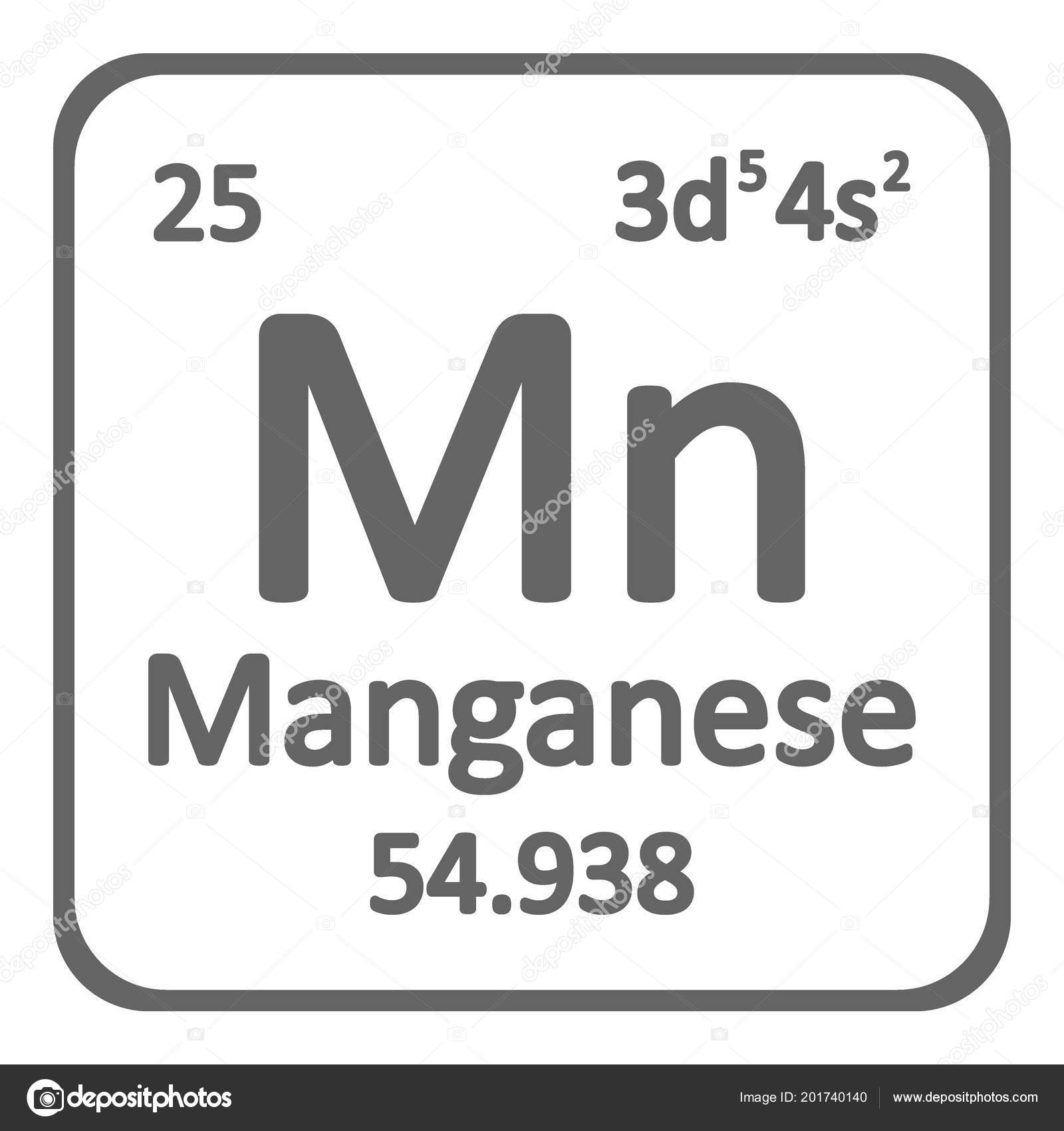 Tabla periodica elemento manganeso icono fondo blanco ilustracin tabla periodica elemento manganeso icono fondo blanco ilustracin vector vector de stock urtaz Image collections