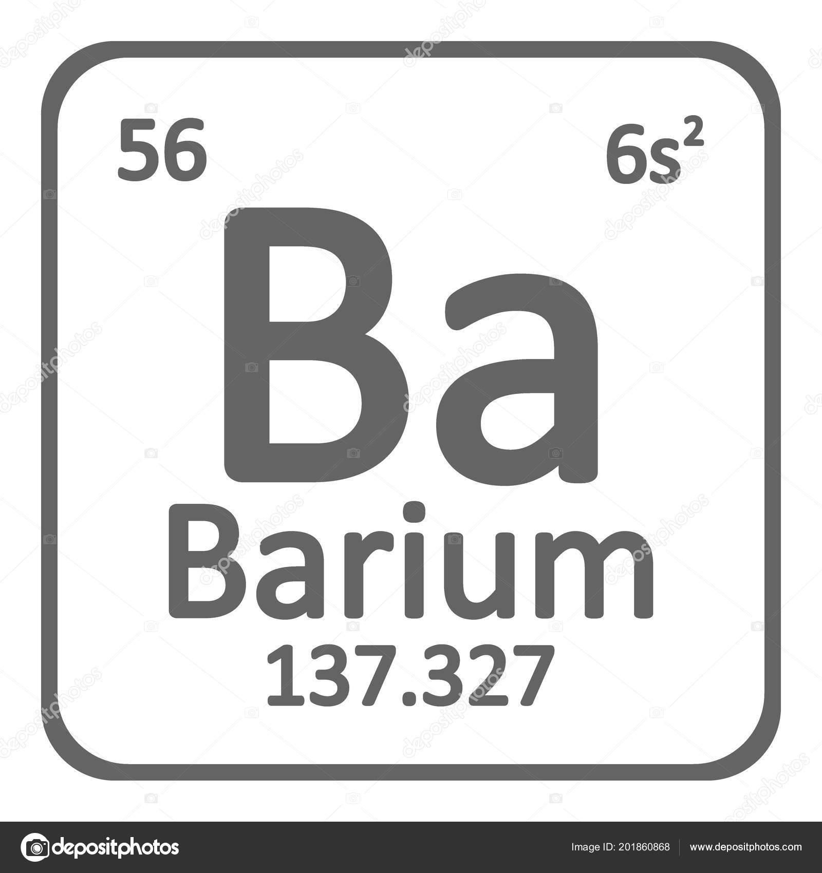 tabla periodica elemento bario icono sobre fondo blanco ilustracin vector archivo imgenes vectoriales