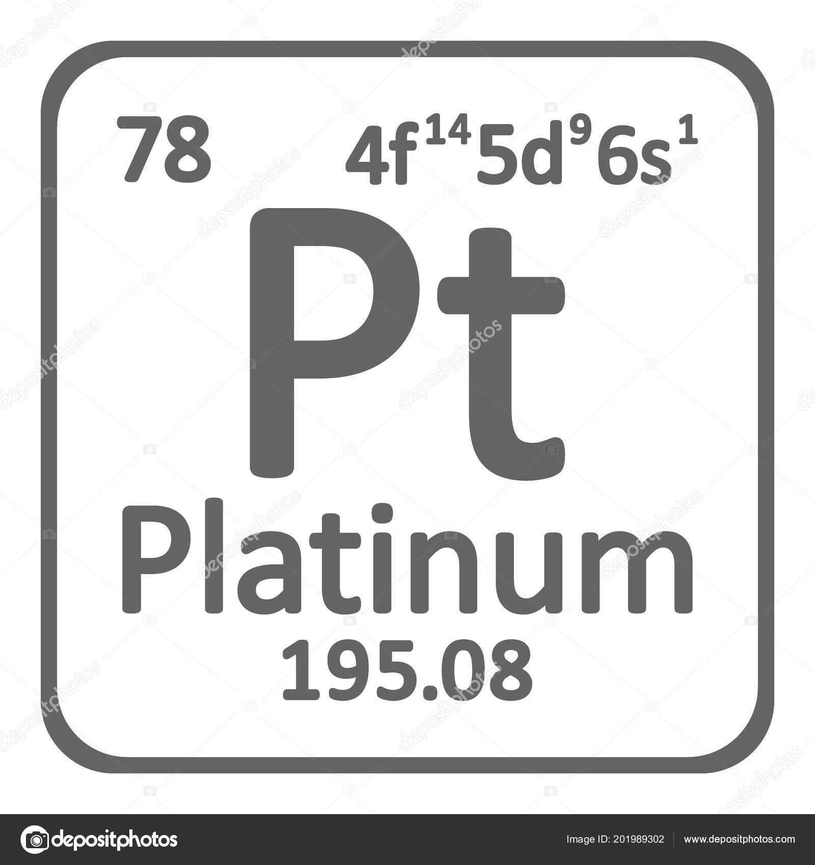 Tabla periodica elemento platino icono fondo blanco ilustracin tabla periodica elemento platino icono fondo blanco ilustracin vector archivo imgenes vectoriales urtaz Image collections
