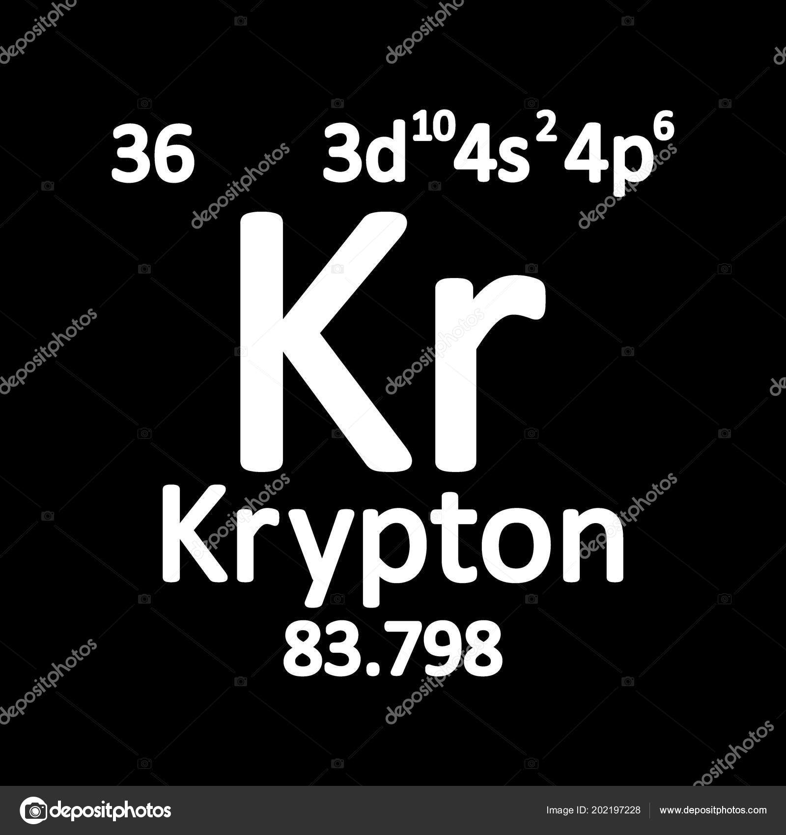 Periodic table element krypton icon white background vector periodic table element krypton icon white background vector illustration stock vector urtaz