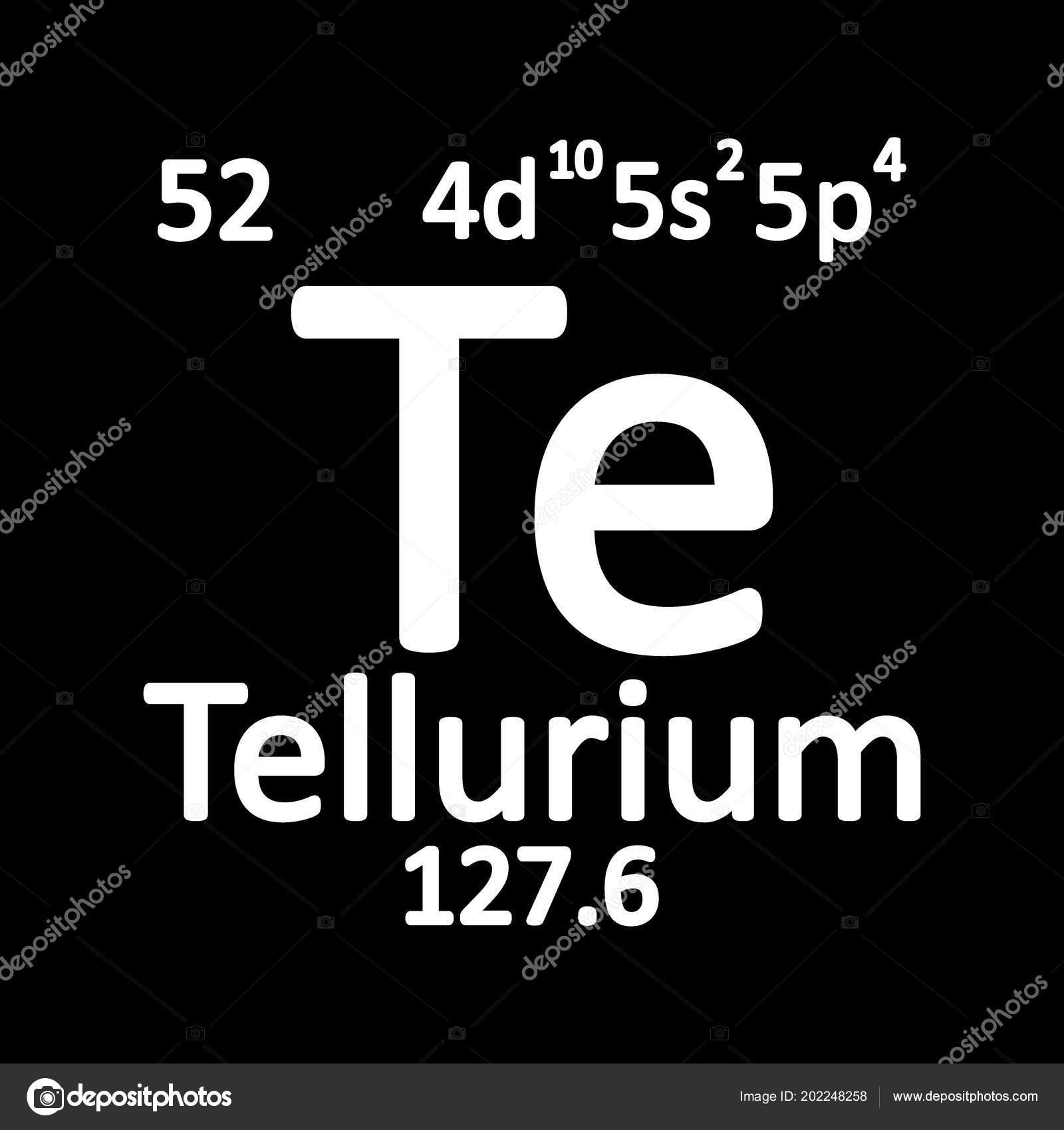 Tabla periodica elemento telurio icono sobre fondo blanco tabla periodica elemento telurio icono sobre fondo blanco ilustracin vector vector de stock urtaz Gallery