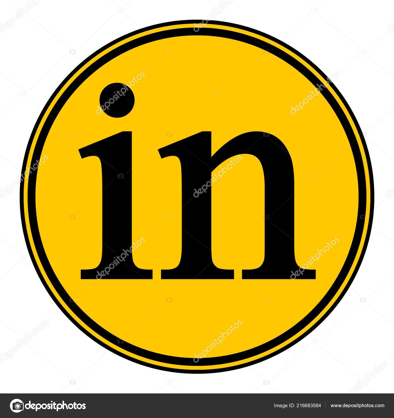 Linkedin Icon White Background Social Media Symbol Vector
