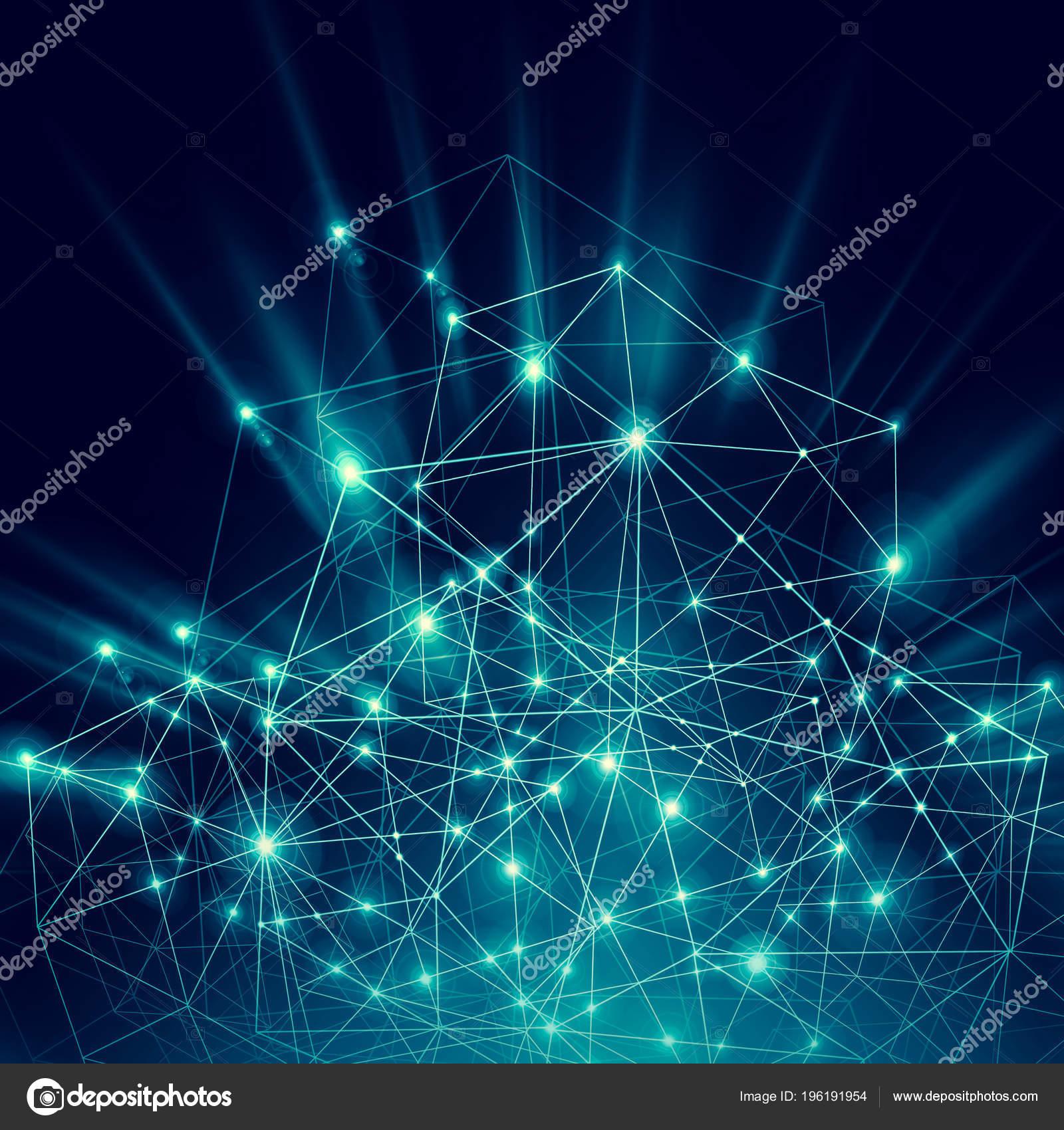 Teknolojik Arka Plan Küresel Iş Kavramı Internet Internet