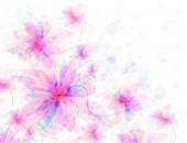 Květinové romantická nabídka růžové pozadí