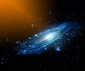 Mlhoviny a galaxie ve vesmíru. Prvky tohoto obrázku jsou podle Nasa.
