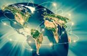 Fizikai világ Térkép szemlélteti. Ez a kép a Nasa berendezett elemei