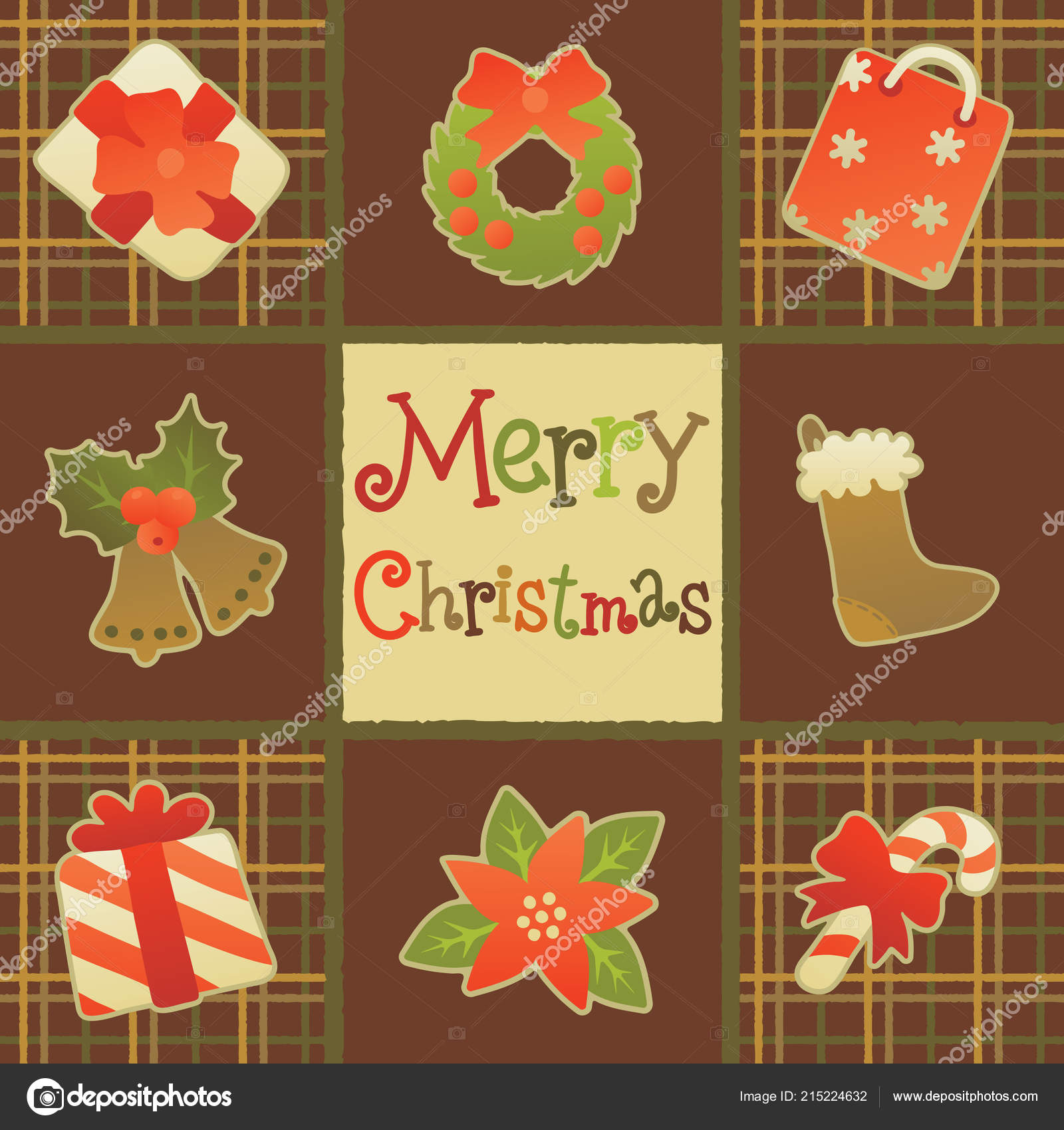 merry christmas greeting card vector christmas background christmas