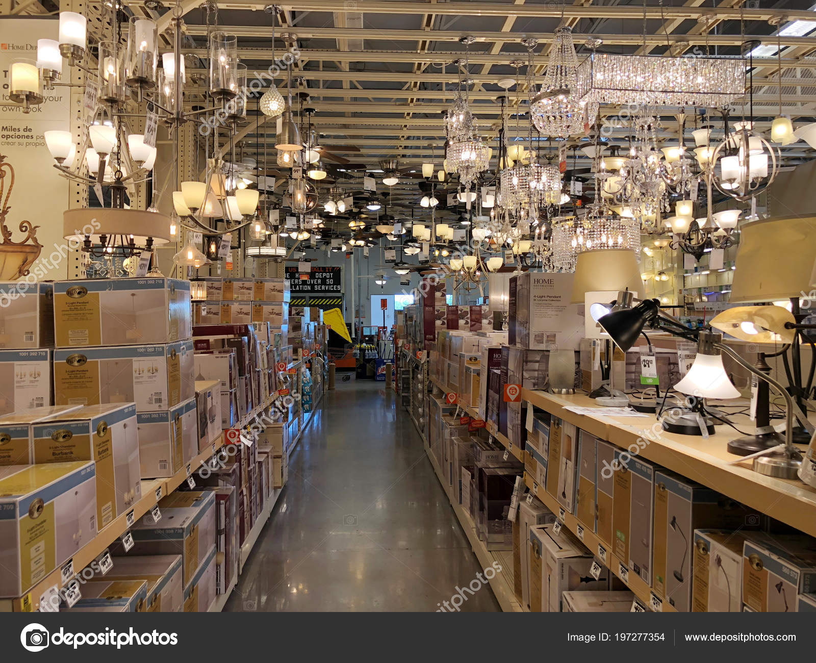 2aea027313b Home Depot is the largest Home Improvement Retailer in the United States.  Ceiling fan and lighting department located inside the store