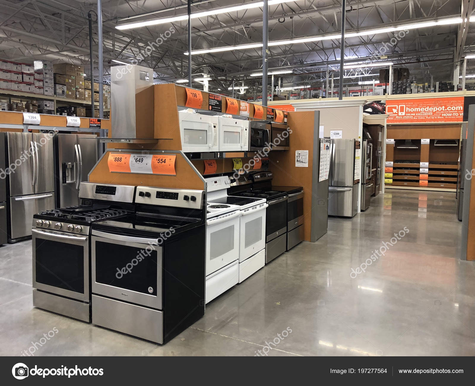 b40531c70c4 Appliances being sold inside the Home Depot store with a variety of  products. Photo was taken in Gilbert Arizona located ...