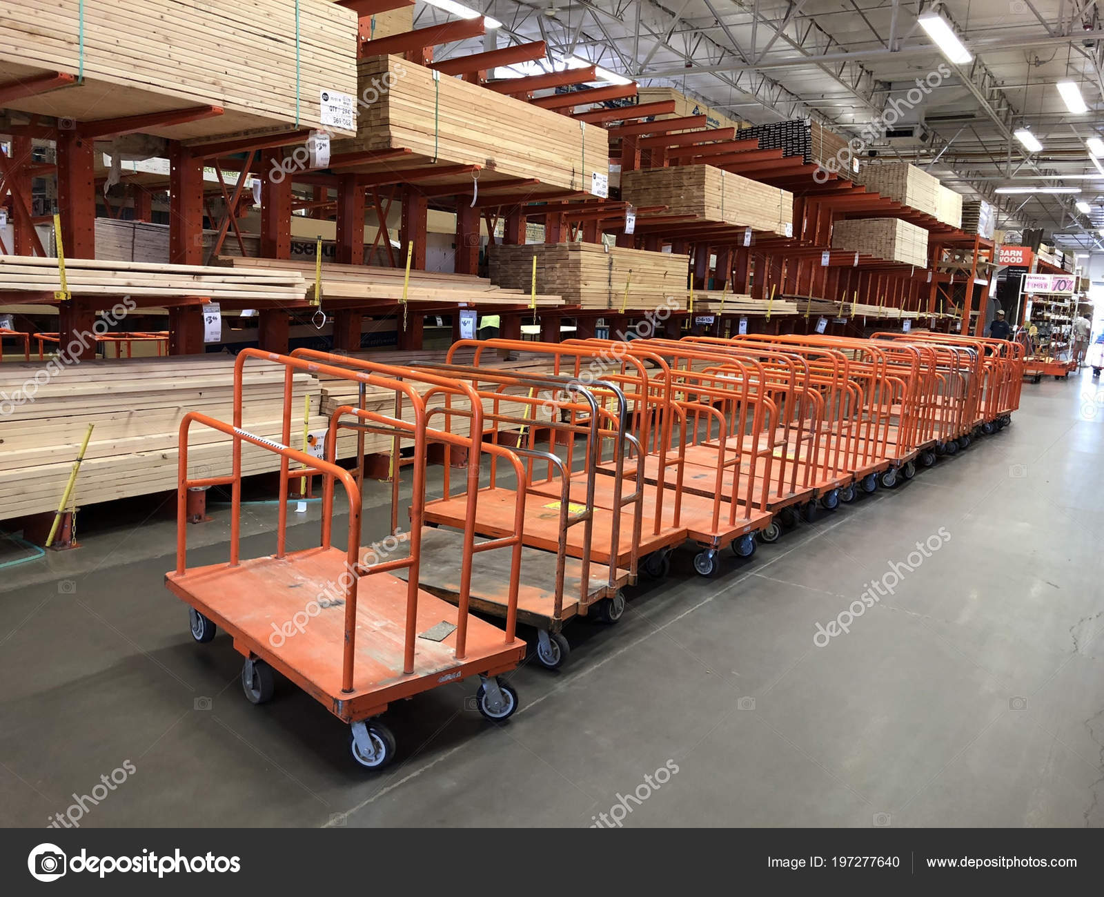 6c6a5f6fd4b Lumber carts located inside the lumber department of a Home Depot store.  Photo was taken in Gilbert Arizona located in ...