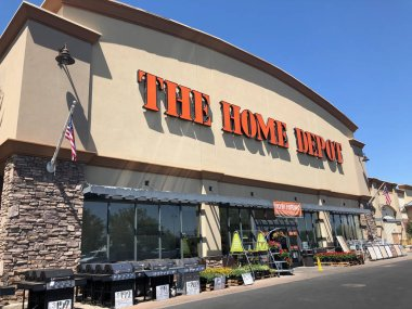 Home Depot is the largest Home Improvement Retailer in the United States.Exterior view of Home Depot with logo on the outside of the store.