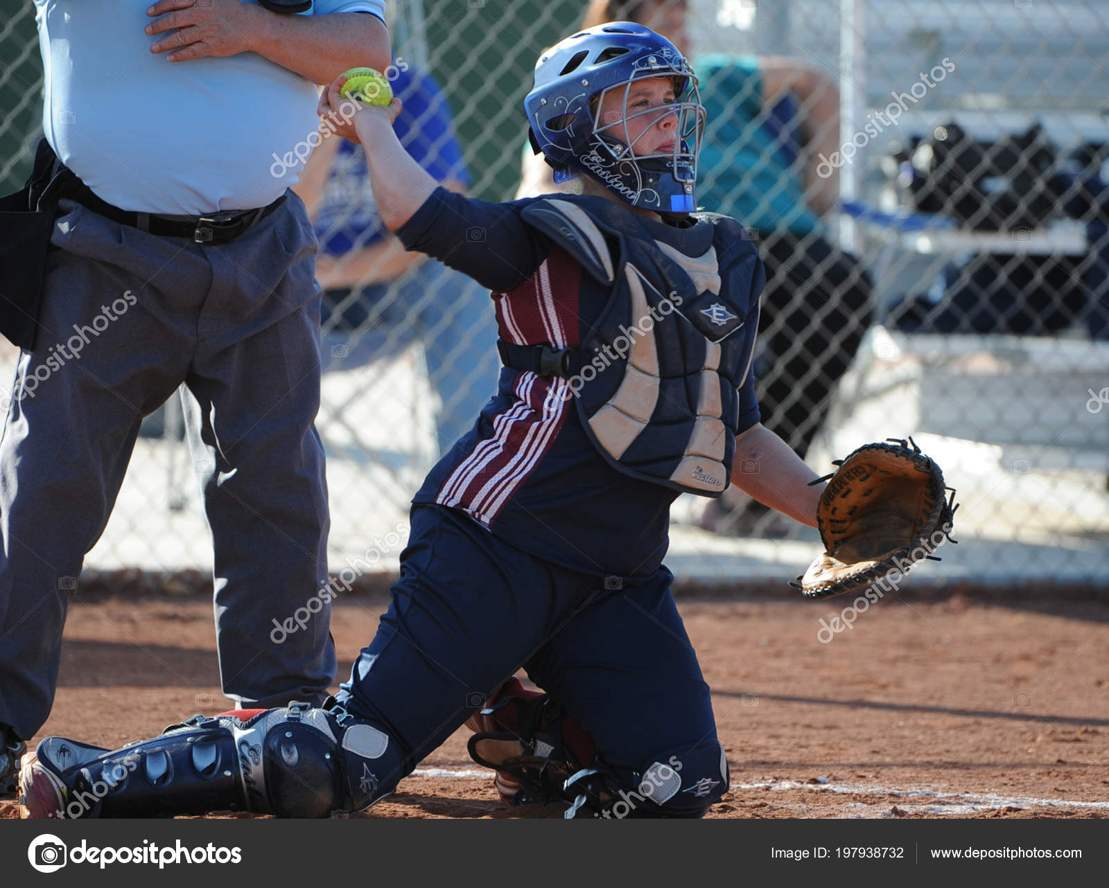 Girls High School Softball Game Action Being Played High